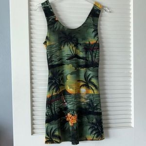 Dresses & Skirts - Tropical Print Mini Dress